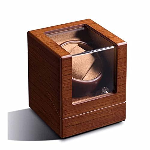 LXSNH 1 + 0 Madera única Reloj mecánico automático Bander Bander Bander Rotator Case Funda Gabinete