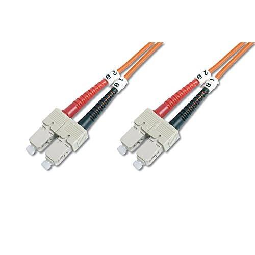 Cavo patch DIGITUS LWL OM2 - Cavo in fibra ottica da SC a SC da 10 m - LSZH - Duplex Multimode 50/125µ - 10 GBit/s - Arancione