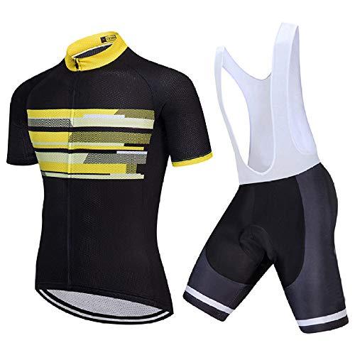 LLYY Traje MTB Maillot Bicicleta Mangas Cortas Pantalones Cortos,Ropa de Ciclismo de Verano Ropa de Bicicleta de montaña Ropa de Bicicleta Ropa de Bicicleta MTB-A04_XL