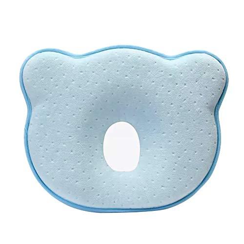 IWILCS cuscino del bambino contro la testa piatta, cuscino del bambino, con (federa), cuscino ortopedico del bambino, contro la deformazione della testa piatta forma della testa piatta, blu