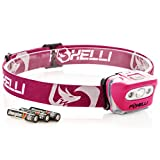 Foxelli Headlamp Flashlight - 165 Lumen, 3 x AAA Batteries Operated (Included), Bright White Cree Led & Red Light,...