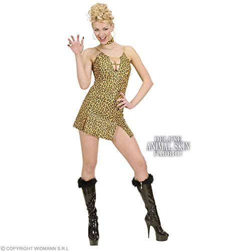 Widmann Kostüm-Set Sexy Leoparden-Kleid, GröÃ?e L