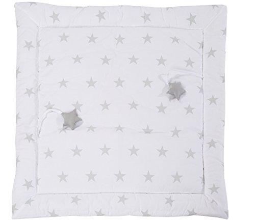 roba Tapis d'éveil 'Little Stars', manette de jeu bébé / tour de parc 100x100cm, 100% coton, avec éléments de jeu.