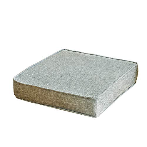 CCONE Thickened Sofa Cushions With Window Cushions Solid Square Floor Pillows,Solid-colored Flax Sponge Cushion
