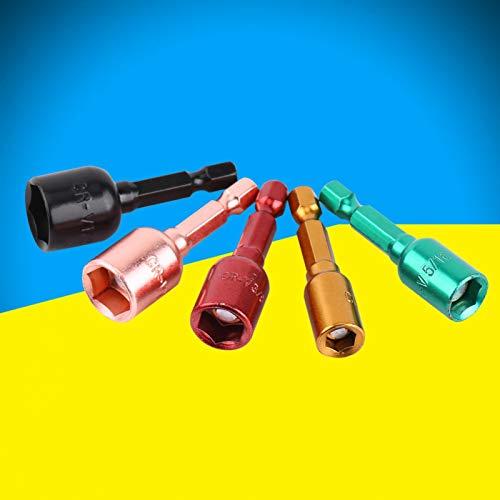 Larga vida útil 1/4 de pulgada-1/2 de pulgada Adaptador de enchufe convertidor de destornillador de toma de corriente de construcción resistente para taladros