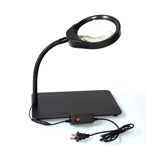 3X / 5X / 8X / 10X LED-Lupenleuchte Einstellbare Helligkeit Flexibler Schlauch für die Wartung Lesebeleuchtung,8X