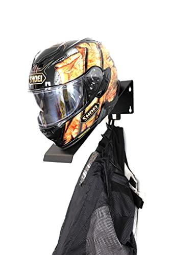 Wandhalter Helm Halterung Helmablage für Motorrad Halter Regal schwarz Profi pulverbeschichtet