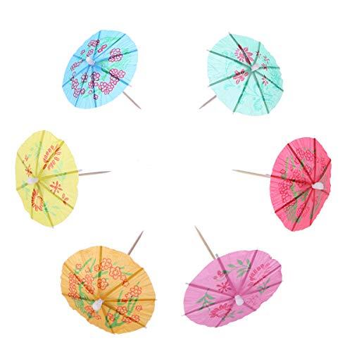 144stuks Cocktail-schirmchen Hawaï parasol paraplu