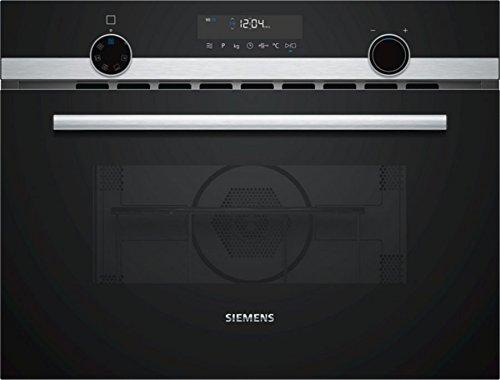 Siemens CM585AMS0 Mini-Ofen / 59,4 cm / LightControl: beleuchteter Bedienknebel / Elektronikuhr / Edelstahl