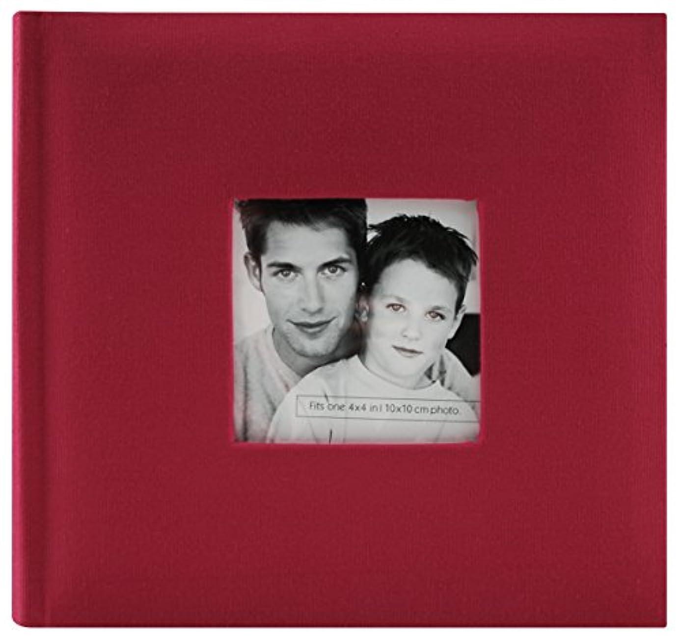 MCS Fashion Fabric 200 Pocket Album, Red (846513)