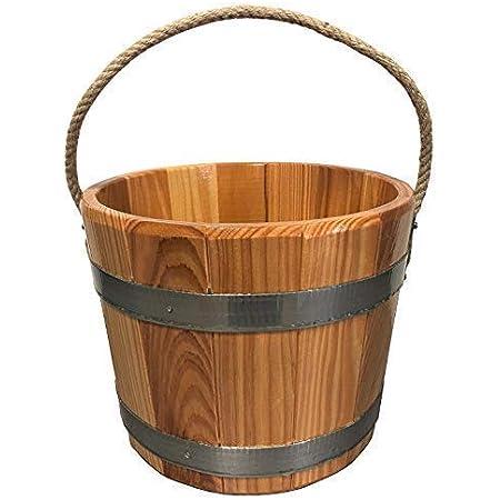 SudoreWell® Seau de Sauna en Bois de mélèze