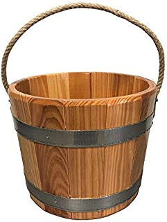 JXAA Seau en Aluminium De Sauna 7L Fournissant des Accessoires De Sauna Complets Pratiques Kit Thermom/ètre//Hygrom/ètre Sablier avec Louche pour Sauna De Salle De Bain