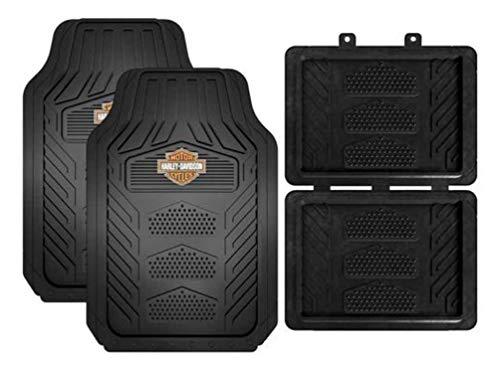 Harley Weatherpro 4 Piece Floor Mats Set, Floor Mats by Plasticolor (001671R01)