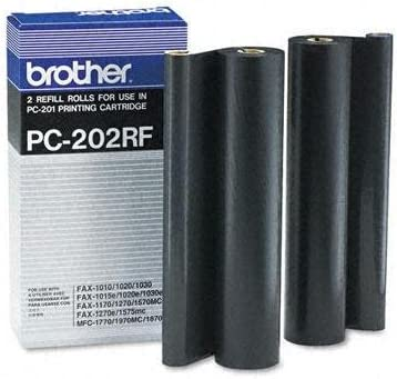 Brother PC202RF Thermal Transfer Refill Roll Black 2/Pack For Plain Paper Fax Machine by Brother