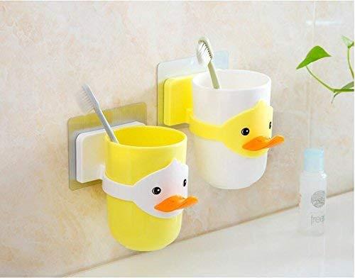 Kinderen cartoon dieren tandenborstelhouder badkamer badkamer mok glazen bad bal houder beugel toilet toilet tandenborstel tandpasta tandpasta tandenborstel mok (Witte beker)