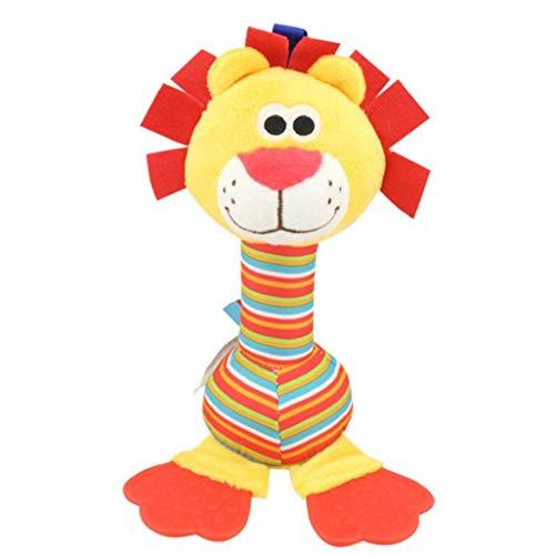 Homiki Bebé de Peluche de Juguete Cama Cochecito Colgantes Anillo de Bell Juguete Suave traqueteo de la Educación de la muñeca del Estilo Lindo del león del bebé Juguetes