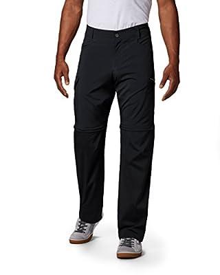 Columbia Men's Standard Silver Ridge Stretch Convertible Pant, Black, 34 x 28