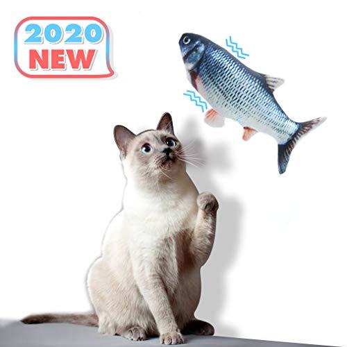 Dioxide Catnip Giocattoli per Gatti, Giocattoli Elettrici per Pesci, Catnip Giocattoli, Giocattolo interattivo Gatto, Simulazione Peluche di Pesce, Giocattoli per Gatto per Gatto Kitty