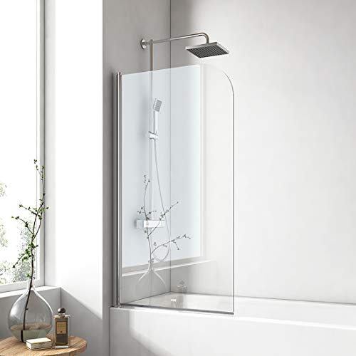 EMKE 90x140cm Badewanne Duschwand mit...