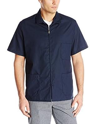 Red Kap Men's Zip-front Smock, Navy, Short Sleeve X-Large by Red Kap Men's Apparel