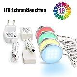 Deckenleuchten Leuchten, Vitrinenbeleuchtung LED Schrankleuchten SMD5050 Unterbauleuchte RGB Beleuchtung, LED Schrankbeleuchtung und 12V Adapter Controller-4pcs, LED Beleuchtung-MEHRWEG