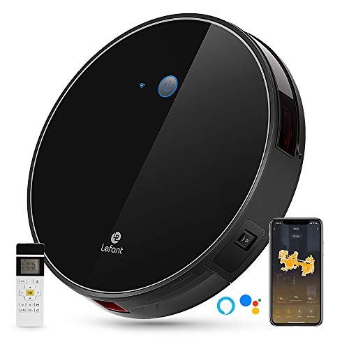 LEFANT M520 Robot Vacuum Cleaner 1800Pa Suction, Wi-Fi Connected Robotic Vacuum Cleaners, Works with Alexa and Google, Self-Charging, Cleans Pet Hair, Hardwood Floors and Medium-Pile Carpets, Quiet