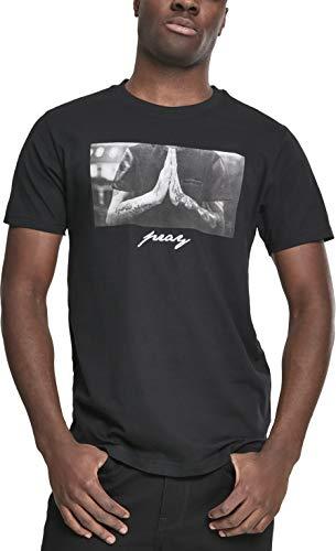 Mister Tee Herren T-Shirt Pray Tee - Schwarz - S