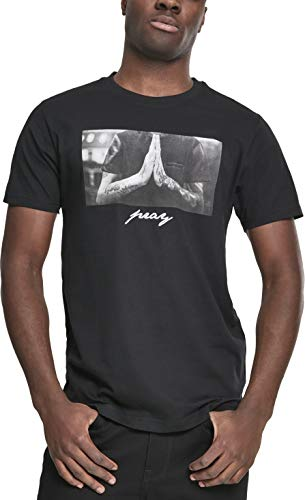 Mister Tee Herren T-Shirt Pray Tee - Schwarz - M