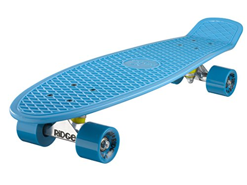 Ridge Skateboard Big Brother Nickel 69 cm Mini Cruiser, blau/blau