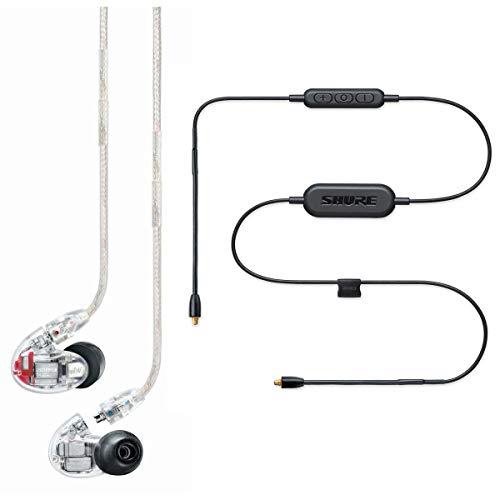 Shure SE846-CL+BT1-EFS Sound Isolating Ohrhörer – Wireless Bluetooth In-Ear Ohrhörer mit passiver Geräuschunterdrückung und vier hochauflösenden Treibern – Transparent