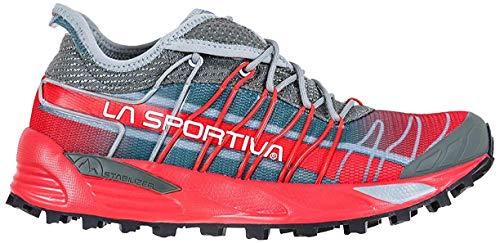 LA SPORTIVA Mutant Woman, Zapatillas de Mountain Running Mujer, Clay/Hibiscus, 38.5 EU