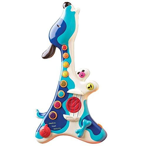 Dirgee Niedliche Cartoon Hund Gitarre Spielzeug Elektronische Tiergitarre Spielzeug Multifunktionsmusik Kinder Geschenk Instrument Spielzeug for Kinder (Farbe: Multicolor) (Color : Multicolor)