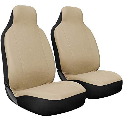 Motorup America Auto Seat Cover Set - High Back Mesh Covers Fits Select Vehicles Car Truck Van SUV - Beige