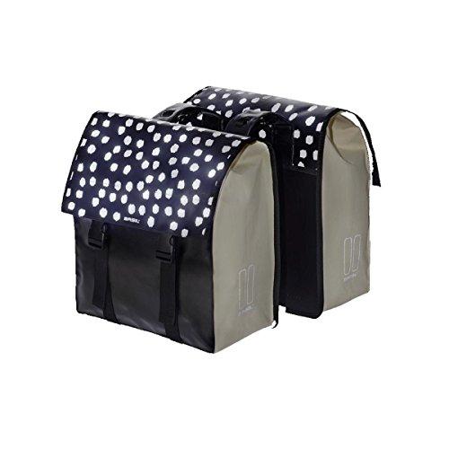 Basil Unisex– Erwachsene Urban Load Doppelpacktasche, Black Reflective/White, 41 cm x 18 cm x 46 cm