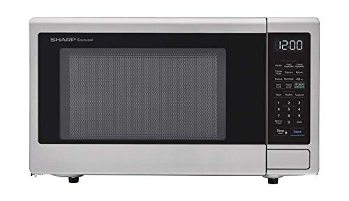 Sharp ZSMC1139FS Smart Countertop Microwave Oven 1.1 Cubic Foot, Stainless Steel-Compatible with Alexa — A Certified for Humans Device (Renewed)
