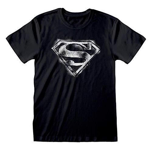 Superman T-shirt Distressed Logo nieuw fanseller