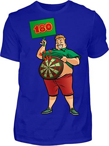 Kreisligahelden T-Shirt Herren 180 Triple 20 - Kurzarm Shirt Baumwolle mit Motiv Aufdruck - Hobby Freizeit Fun Dart Darts 180 (XL, Blau)