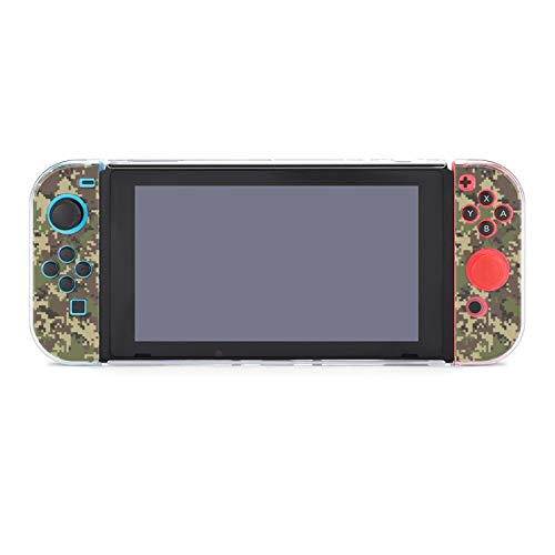 Protective Case Cover for Nintendo Switch Camouflage Army Wood Land Forest Solider Dockable Case Compatible with Nintendo Switch Console and Joy-Con Controller
