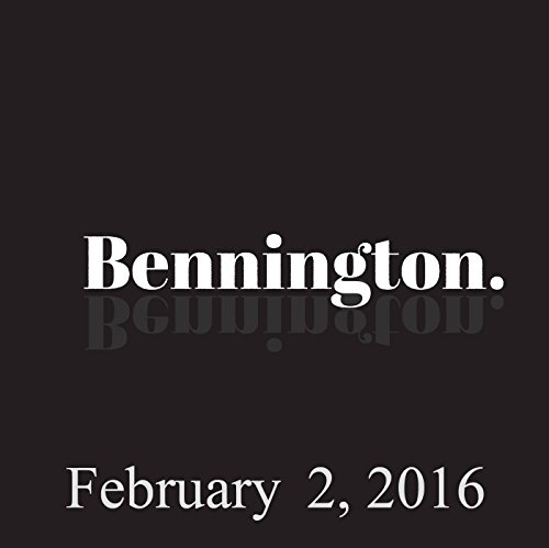Bennington, Todd Barry, February 2, 2016 audiobook cover art