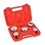 Manyao 5 Piezas de 3/8 del Filtro de Aceite Juego de Dados de 24 mm 27 mm 32 mm 36 mm 38 mm Kit de Herramientas Universal Llave