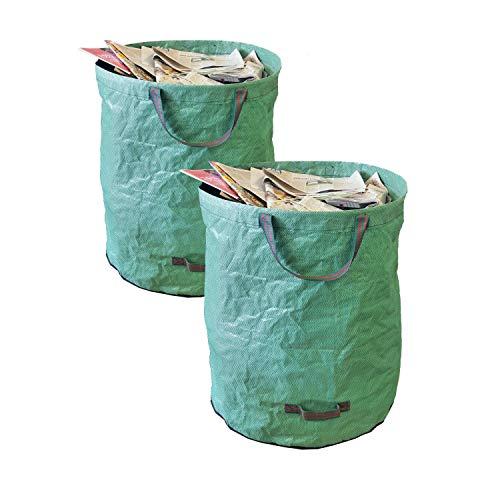 SONOVO Gartensack Gartenabfallsack Gartentasche für Laub Grünschnitt Grünabfälle 272l XL 998002-1 (2er Set - 2X 272 L)