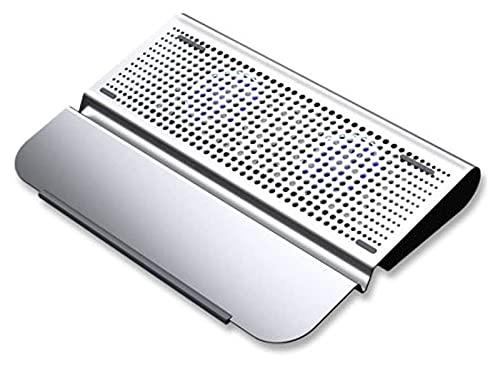 ZOUJIANGTAO Almohadilla de enfriamiento portátil Cojín de enfriamiento para computadora portátil 10'-15.6' Pad de refrigeración portátil Ultra Slim Portable 2 tranquilos Grandes Fans
