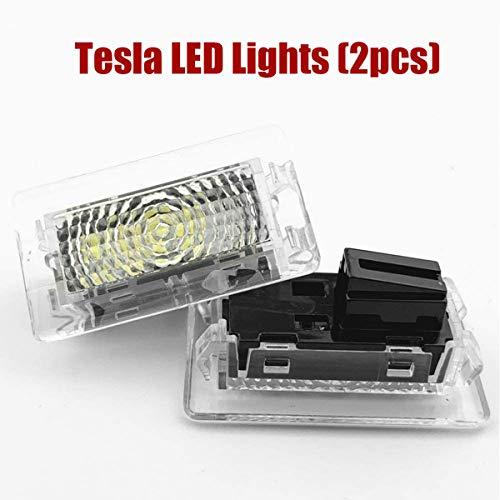 topfit für Tesla Interior Ersatzleuchten Kit Auto LED Licht für Kofferraumfront Ultrahelle LED-Innenleuchte für Tesla Model Y Model 3 Model S Model X