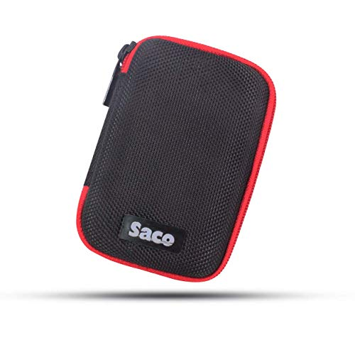 Saco Shock Proof Pocket Organizer Eva External Hard Disk Case Pouch for...