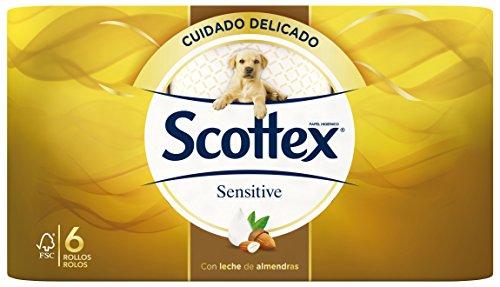 Scottex Sensitive Papel Higiénico, 6 Rollos