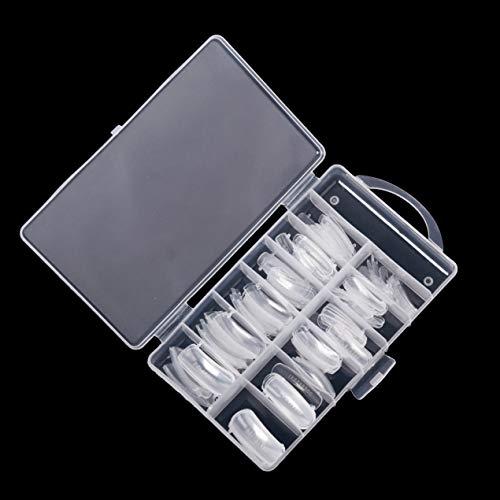 KM-Nails Lot de 100 élastiques à double tips/popits assortis dans une boîte.