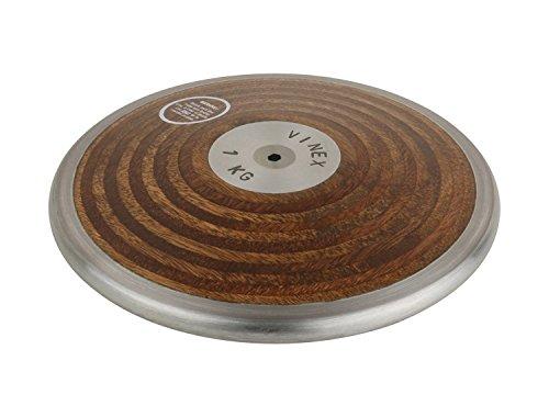 Vinex Diskuswerfen - Wurfdiskus Holz für Wettkampf und Training 1,00 kg