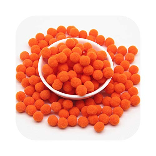 happy-Boutique Orange Tassels 8/10/15/20/25/30 mm Plush Fur Ball Craft Soft Wedding Home Sewing Fabric 10 mm 288 Pieces 20 g