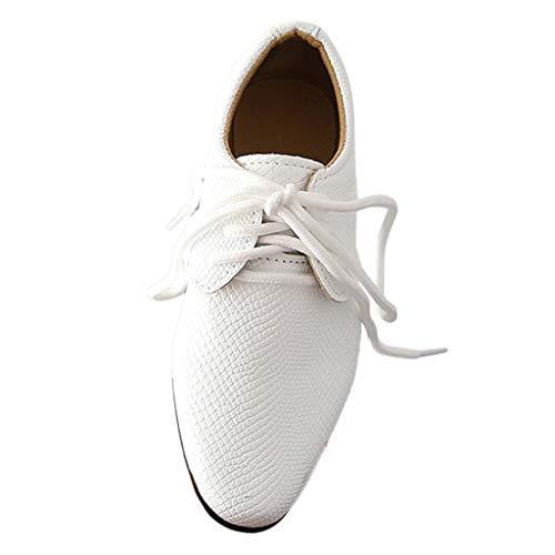 AIni Schuhe Baby Mode Beiläufiges 2019 Neuer Kinder Kleinkinder Baby Jungen Britische Art Kursteilnehmer Führen Schuhe Durch Krabbelschuhe Kleinkinder Schuhe Lauflernschuhe(35,Weiß)