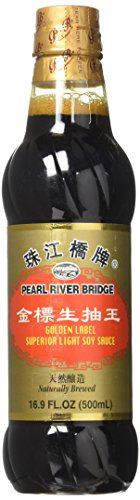 Pearl River Bridge Golden Label Superior Light Soy Sauce, Plastic Bottles, 16.9 oz.